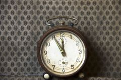 Vintage alarm clock. stock image
