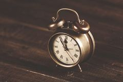 Vintage alarm clock with bell Royalty Free Stock Photo