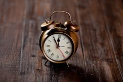 Vintage alarm clock with bell Stock Photography