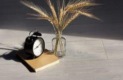 Vintage alarm clock glass Royalty Free Stock Photos