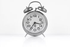 Vintage alarm clock isolated Stock Photography