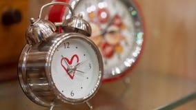 Vintage Alarm Clock In Morning Wake Up stock photos