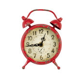 Vintage Alarm Clock on White background Royalty Free Stock Photo