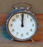 Vintage alarm clock, White dial Royalty Free Stock Photography
