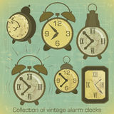 Vintage Alarm Clocks Royalty Free Stock Photo