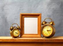 Vintage alarm clocks Stock Images