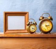 Vintage alarm clocks Stock Photos