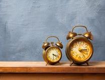 Vintage alarm clocks Stock Photo