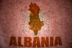 Vintage albania map Stock Image