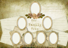 Vintage album family tree Stock Photography