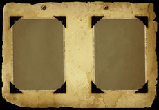 Vintage album page. 1 frame on the album page Royalty Free Stock Photo