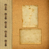 vintage album with paper frames Royalty Free Stock Photography