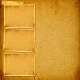 Vintage album with paper frames for photos Royalty Free Stock Image