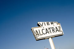 Vintage Alcatraz sign Royalty Free Stock Photo