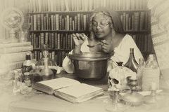 Vintage alchemist Royalty Free Stock Image