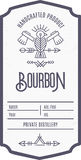 Vintage alcohol drink label design with ethnic elements in thin line style. Vintage bourbon label design with ethnic elements in thin line style. Alcohol Royalty Free Stock Image