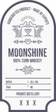 Vintage alcohol drink label design with ethnic elements in thin line style. vector illustration