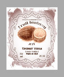 Vintage alcohol labels. Royalty Free Stock Photo