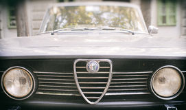 Vintage Alfa Romeo car. Italian brand. Stock Photo