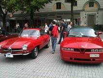 Vintage alfa romeo Classic Lugano Royalty Free Stock Image
