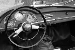 Vintage alfa romeo dashboard Royalty Free Stock Images