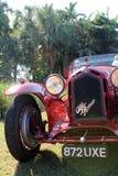 Vintage alfa romeo racer grille & headlamp Stock Photos