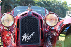 Vintage alfa romeo racer grille & headlamp Royalty Free Stock Images