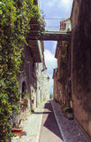 A vintage alley in France. Vintage alley in the south of France Stock Photo