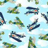 Vintage allied plane flying. Royalty Free Stock Images