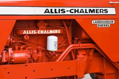 Vintage Allis-Chalmers Tractor Detail stock photography