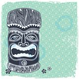 Vintage Aloha Tiki illustration Stock Image