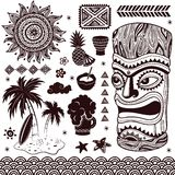 Vintage Aloha Tiki illustration Royalty Free Stock Images