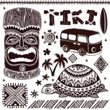 Vintage Aloha Tiki illustration Stock Photography