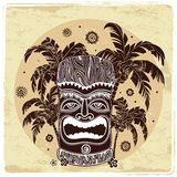 Vintage Aloha Tiki illustration. This is file of EPS10 format Royalty Free Stock Image