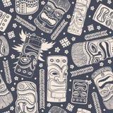 Vintage Aloha Tiki seamless pattern Royalty Free Stock Image