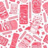 Vintage Aloha Tiki seamless pattern Stock Image