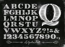 Vintage alphabet chalk Royalty Free Stock Photo