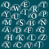 Vintage Alphabet - design element. Vector illustration Royalty Free Stock Image