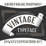 Vintage alphabet font. Rust effect letters and numbers. Retro vector typeface for your design Stock Photos