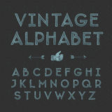 Vintage alphabet. Vintage hand drawing alphabet, vector eps10 illustration Royalty Free Stock Photography