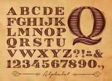 Vintage alphabet kraft Royalty Free Stock Photos