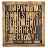 Vintage alphabet letters Royalty Free Stock Photography