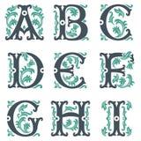 Vintage alphabet. Part 1 Stock Image