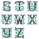 Vintage alphabet. Part 3 Royalty Free Stock Photography