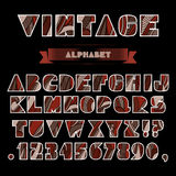 Vintage Alphabet Stock Images