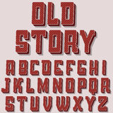 Vintage alphabet vector font.  Old style typeface Stock Images
