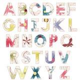 Vintage alphabet Stock Photography