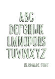 Vintage alphabetic fonts Royalty Free Stock Photography