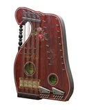 Vintage alpine zither instrument Royalty Free Stock Photos