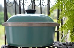 Vintage Aluminum Pot with lid II royalty free stock photography